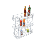 TRIPLE BASKET PULL-OUT (21″ HEIGHT X 12″ WIDTH X 20″ DEPTH) STAINLESS STEEL