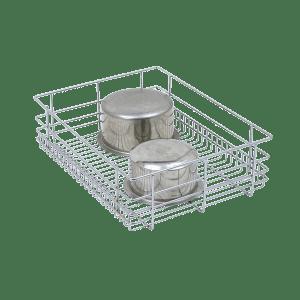 PLAIN DRAWER BASKET (8″ HEIGHT X 15″ WIDTH X 20″ DEPTH) 6MM SS WIRE