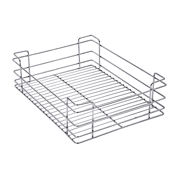 PLAIN DRAWER BASKETS (6″ HEIGHT X 15″ WIDTH X 20″ DEPTH) 5MM WIRE STAINLESS STEEL