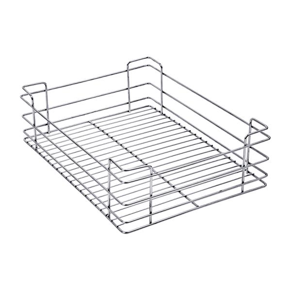 PLAIN DRAWER BASKET (4″ HEIGHT X 15″ WIDTH X 20″ DEPTH) 5MM WIRE STAINLESS STEEL