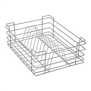 PLATE BASKET (6″ HEIGHT X 21″ WIDTH X 20″ DEPTH) 5MM WIRE STAINLESS STEEL