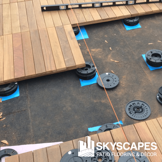 Skyscapes offers professional installation of our distinctive outdoor flooring products.