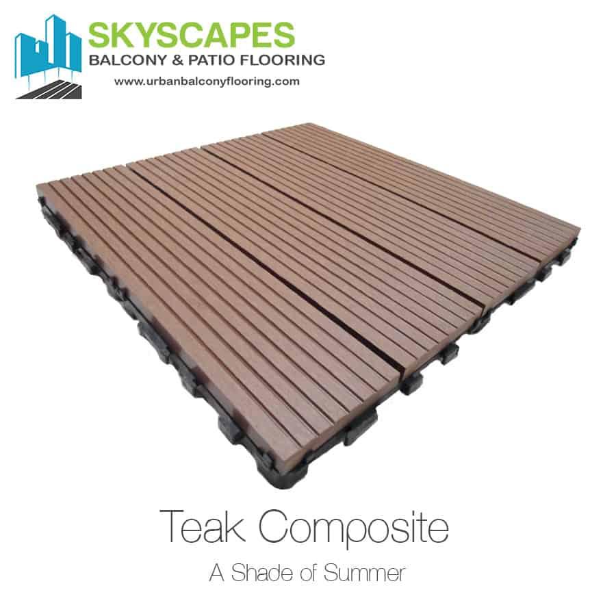 Dura Tile Wood Plastic Composite Wpc Deck Tiles Teak Urban