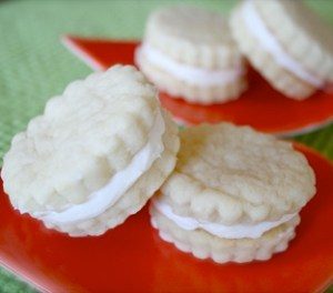 Lemon Shortbread Buttercream Sandwich Cookies