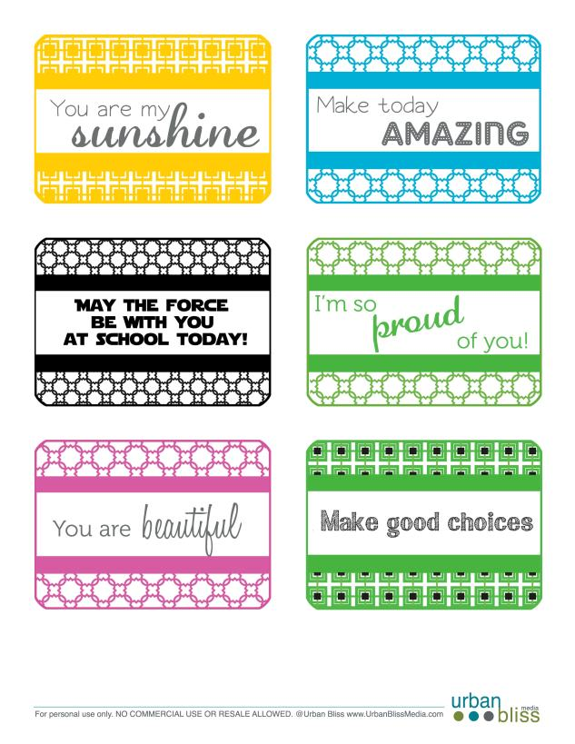 Lunchbox Love Notes by Urban Bliss
