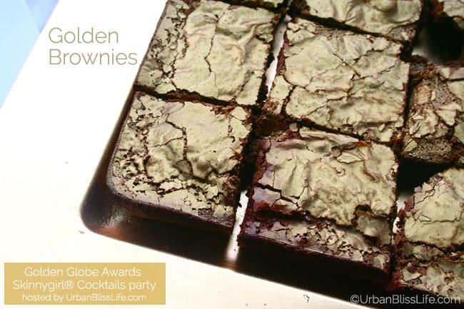 Golden Globes Skinnygirl party - brownies
