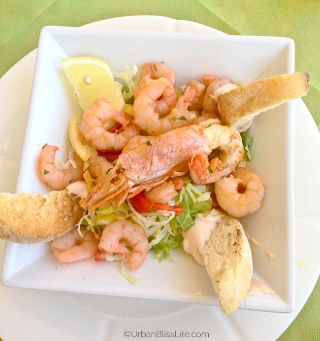 Lake Como, Italy - seafood salad