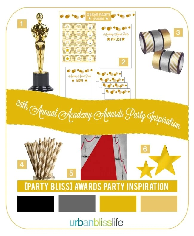 [Party Bliss] How to Host an Oscar Party: Ideas and Printables