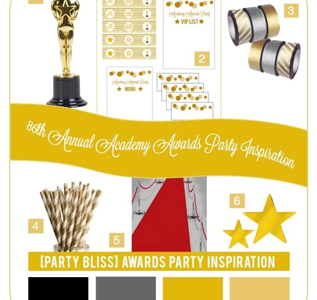 Academy Awards Party Style Inspiration Board
