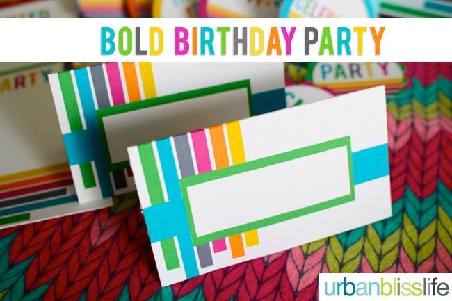 Bold Rainbow Birthday Party Printables by Urban Bliss
