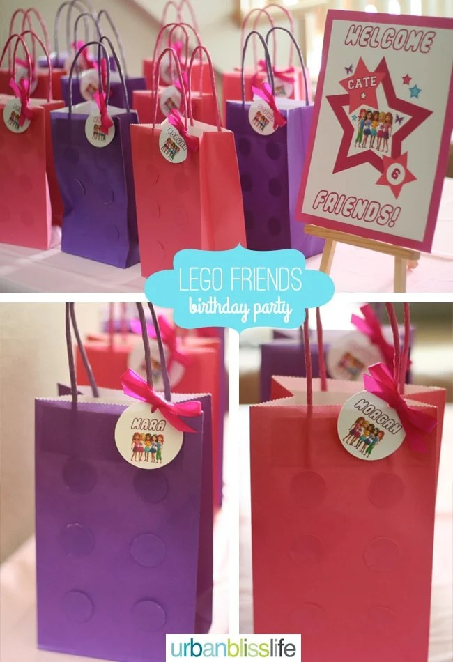LEGO-Friends-Birthday-Party-Favor-Bags - Urban Bliss Life