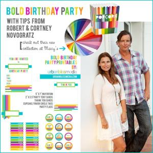 Novogratz collection & bold birthday party printables