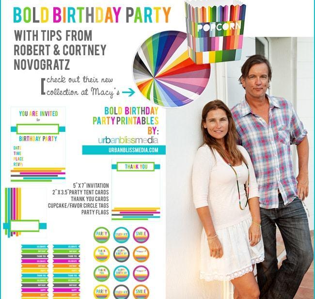 Novogratz collection & bold birthday party printables