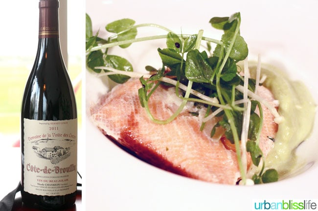 Beaujolais Food Feast Salmon Wine