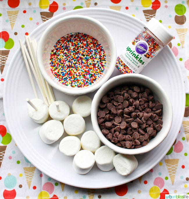 Mother's Day sprinkle chocolate marshmallow