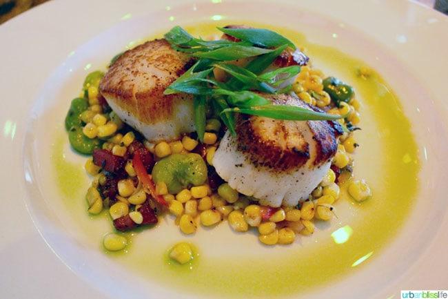 Ringside Fish House Portland Oregon restaurant scallops