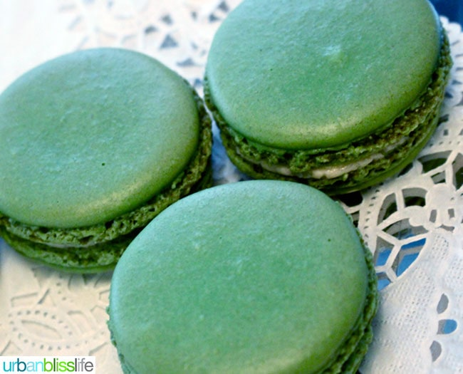 St Honore Grille cider macaron cookies