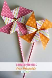 Summer Pinwheel Printables by Urban Bliss
