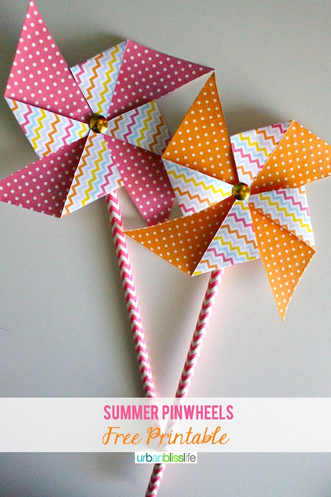 [Make It Monday] Summer Pinwheels Printable