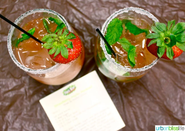 #TreeTopPlaydate Strawberry Mojito Mocktails