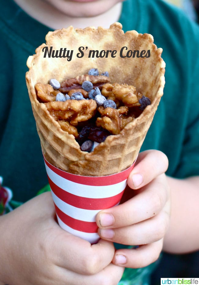Nutty S'More Cones with Santé Nuts