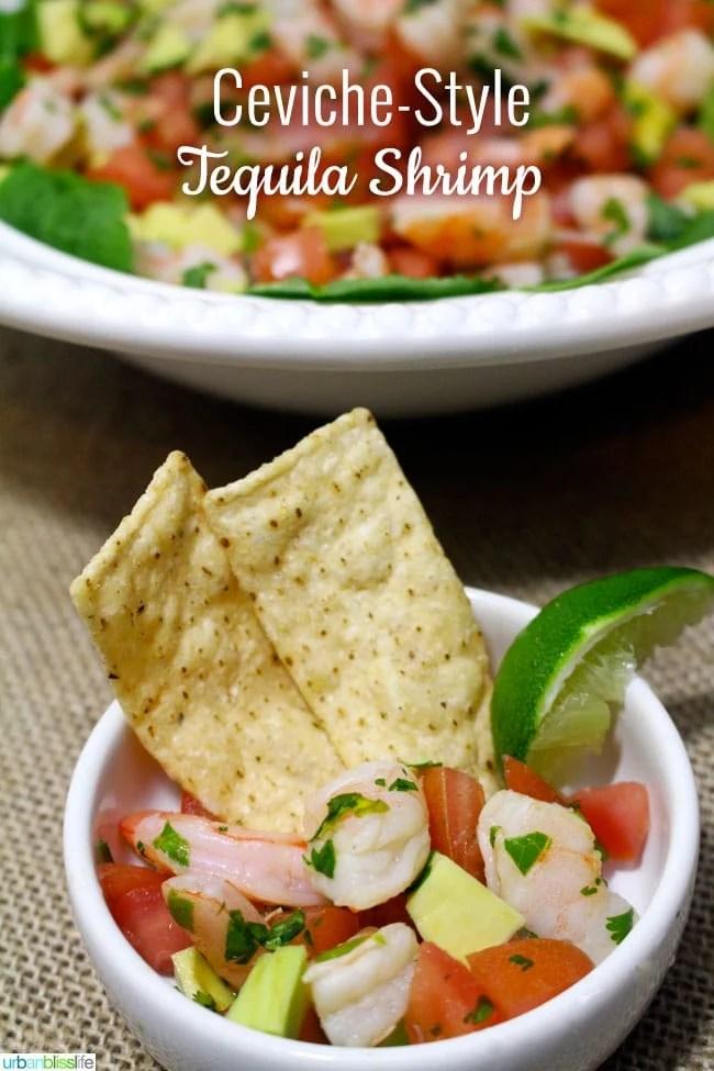 Ceviche Style Tequila Shrimp - UrbanBlissLife.com
