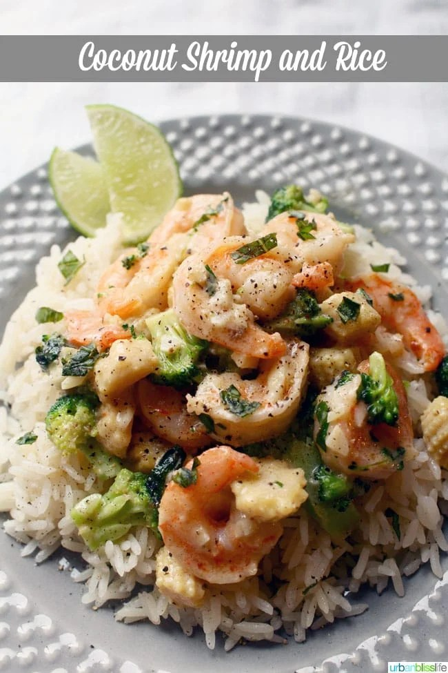 Easy Coconut Shrimp with Rice