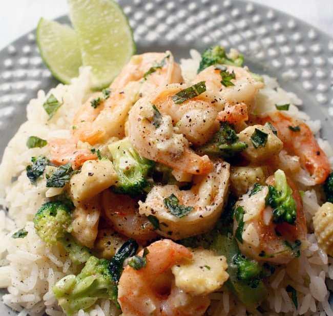 Coconut Shrimp with Rice recipe