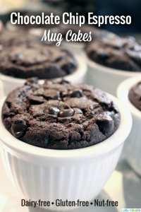 Dairy-Free, Gluten-Free Chocolate Chip Espresso Mug Cakes