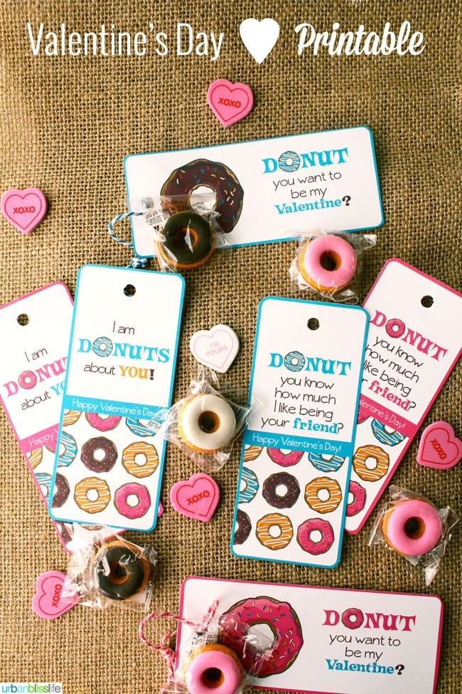 Valentines Day Donut Bookmark Printables by Urban Bliss Life