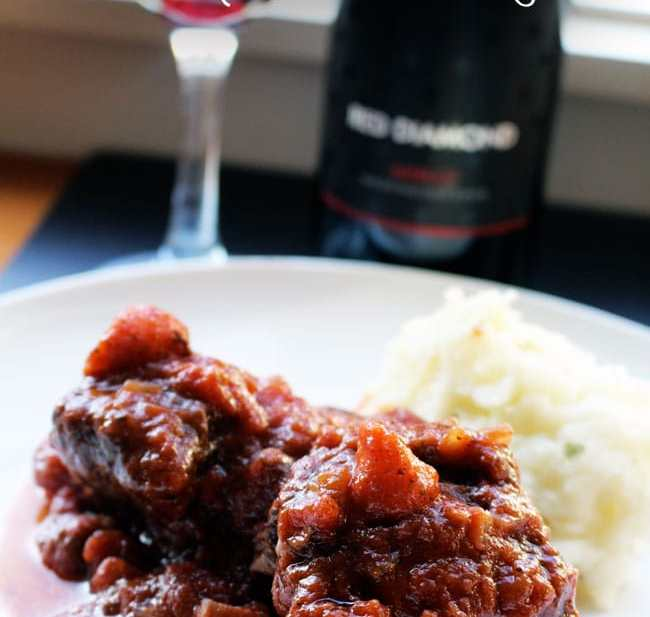 Red Wine Braised Slow Cooker Short Ribs