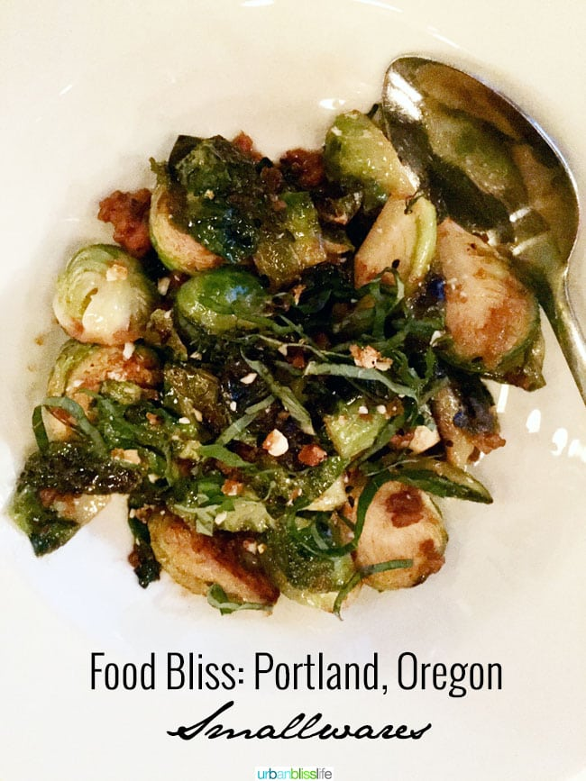 Smallwares Brussels Sprouts Portland Oregon restaurant review