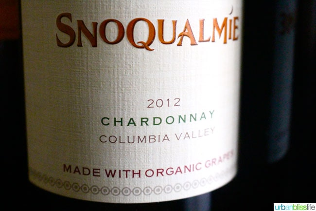 Snoqualmie Organic Chardonnay Close Up