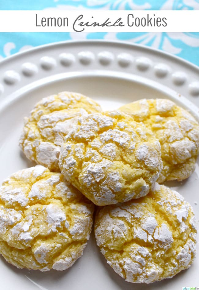 Delicious Easy Lemon Crinkle Cookies Dessert Recipe