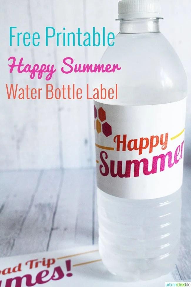 Free Summer Printables: Road Trip Games & Water Bottle Labels on UrbanBlissLife.com