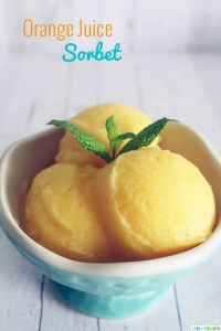 Orange Juice Sorbet recipe on UrbanBlissLife.com