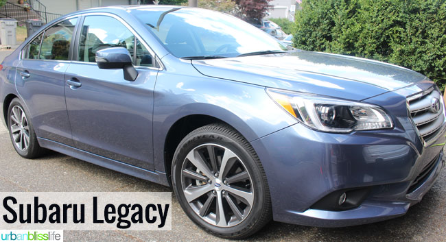 Subaru Legacy car review on UrbanBlissLife.com