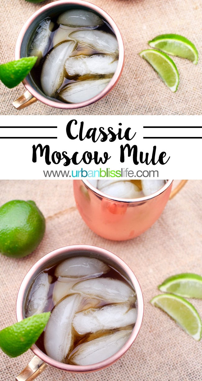 Classic Moscow Mule recipe on UrbanBlissLife.com