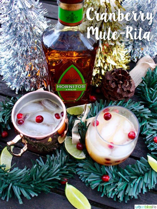 Cranberry MuleRita cocktail recipe on UrbanBlissLife.com