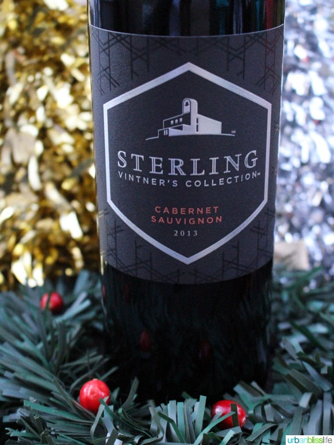 Top holiday wines: Sterling Cabernet Sauvignon on UrbanBlissLife.com