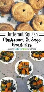Butternut Squash Mushroom Sage Puff Pastries by UrbanBlissLife.com