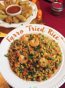 Farro Fried Rice Lunar New Year recipe on UrbanBlissLife.com