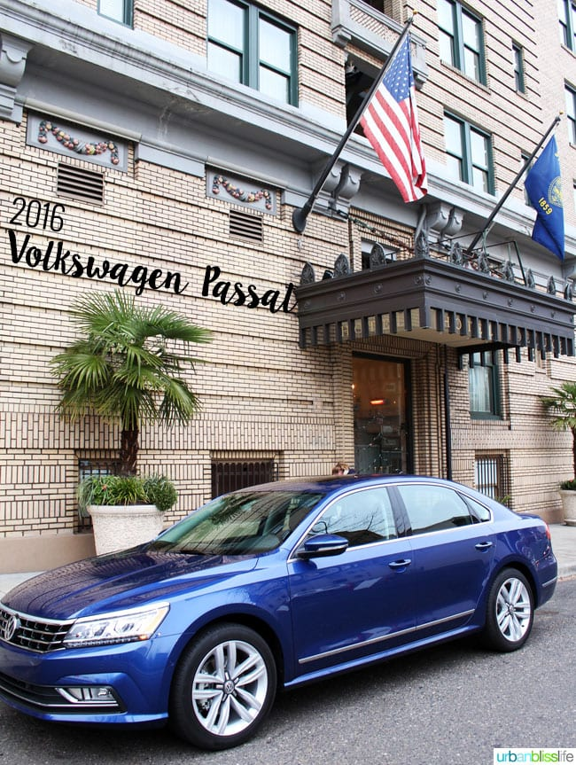 2016 VW Passat car review on UrbanBlissLife.com