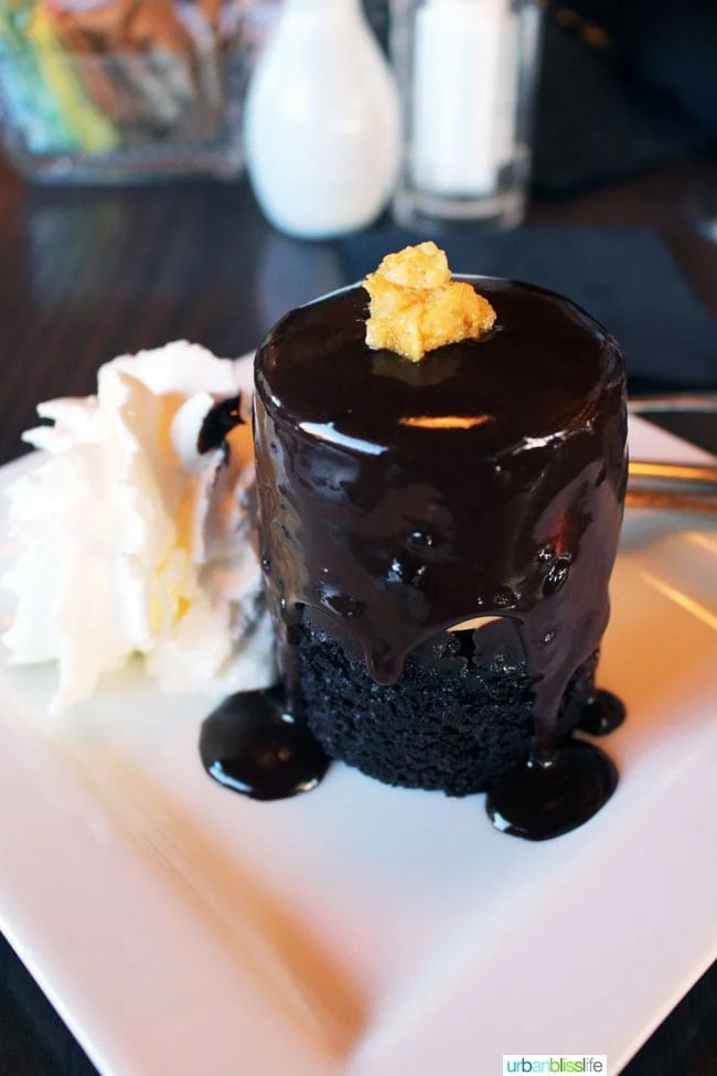 Wayfarer Restaurant Chocolate Dessert in Cannon Beach, Oregon - restaurant review on UrbanBlissLife.com