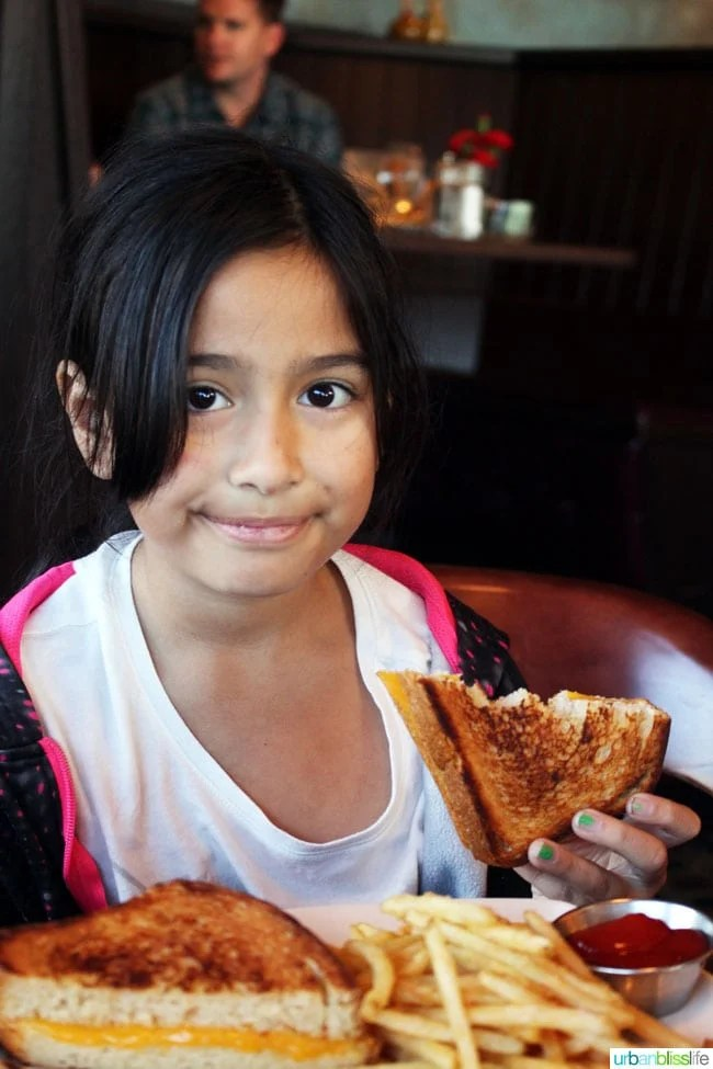Wayfarer Restaurant Kids' Grilled Cheese in Cannon Beach, Oregon - restaurant review on UrbanBlissLife.com