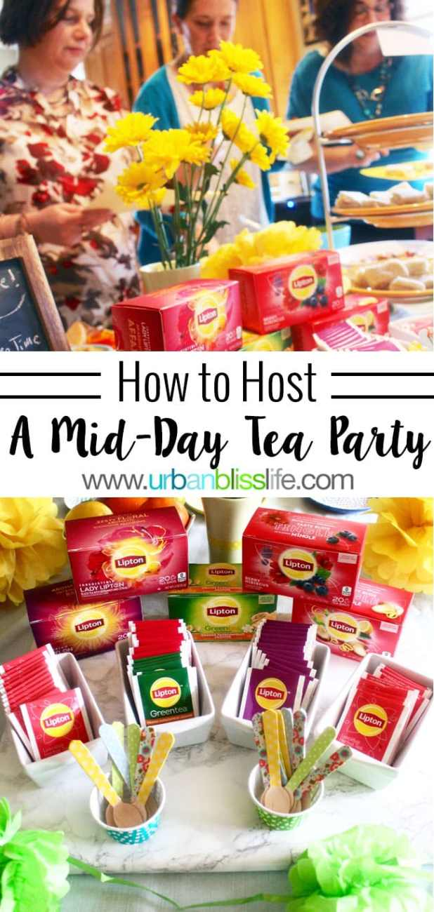 Party Bliss: How to Host a Mid-Day Tea Party