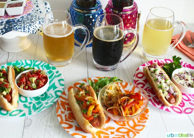Spring BBQ and Beer Pairings and delicious hot dog toppings