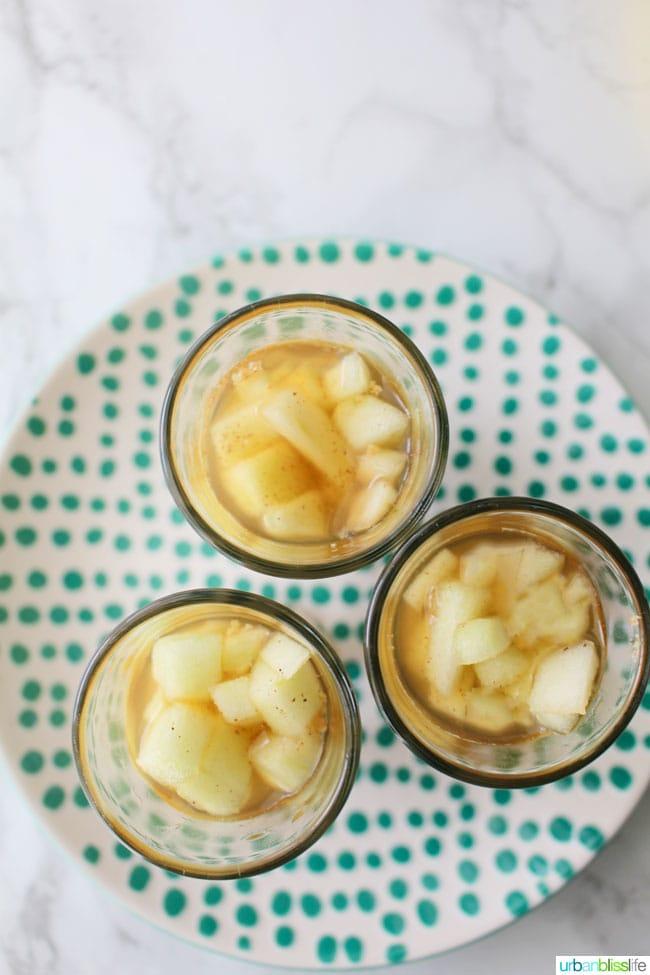 Boozy Apple Pie Shots recipe on UrbanBlissLife.com
