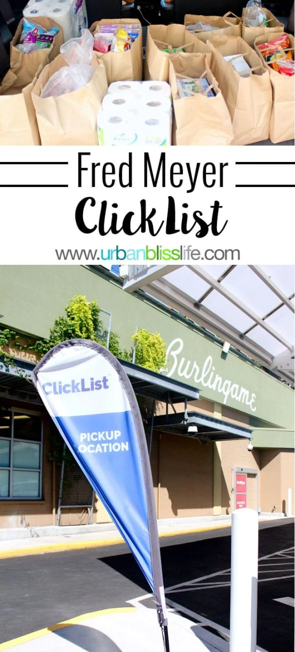 Fred Meyer Click List online grocery shopping details on UrbanBlissLife.com