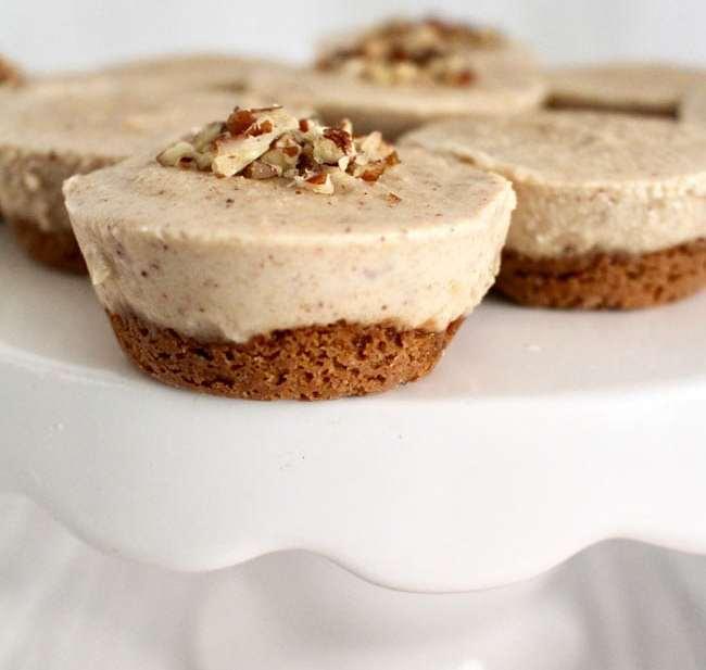 Nutty Vegan Cheesecake is a satisfying frozen dessert! Recipe on http://UrbanBlissLife.com